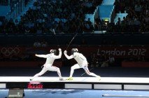 fencing final at Excel centre London August 2012