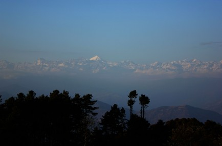 Himalayas range.. view from Narangot .Nepal february 2013